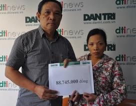Gần 89 triệu đồng đến với chị Lê Thị Quỳnh bị tim bẩm sinh