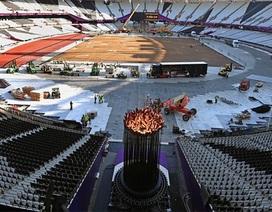 Đài lửa Olympic bất ngờ được di chuyển