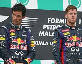 Vettel ngó lơ Webber để giành chiến thắng