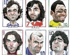 """""""Ngắm"""" chân dung các huyền thoại bóng đá thế giới"""
