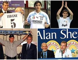 10 cầu thủ phá kỷ lục chuyển nhượng thế giới gần nhất