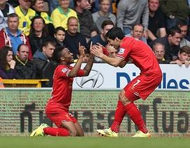 Đánh bại Norwich, Liverpool rộng cửa vô địch Premier League