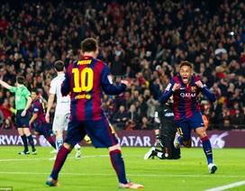 Barca 3-1 Atletico: Neymar, Suarez, Messi cùng rực sáng