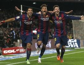 "Messi-Suarez-Neymar: ""Tam giác quỷ"" lợi hại của Barcelona"