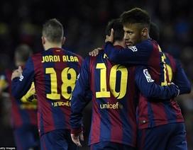 Messi lập công, Barcelona thắng nghẹt thở Villarreal