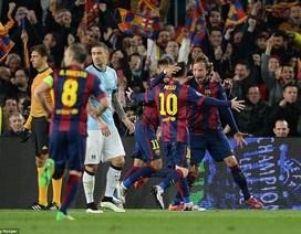 Aguero đá hỏng phạt đền, Man City gục ngã trước Barca