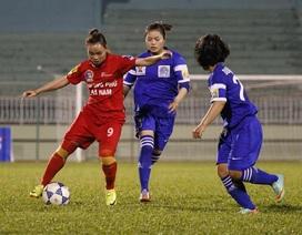 Hà Nam có chiến thắng đầu tiên tại giải bóng đá nữ quốc gia