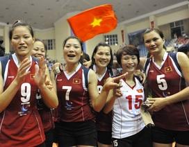 Tuyển bóng chuyền nữ Việt Nam giành ngôi đầu bảng
