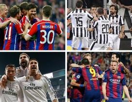 """Bốc thăm bán kết Champions League: Tứ đại gia cùng """"nín thở"""""""