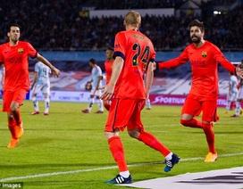 Đánh bại Celta Vigo, Barcelona vững ngôi đầu bảng