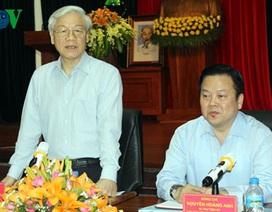 Tổng Bí thư Nguyễn Phú Trọng thăm, làm việc tại Cao Bằng