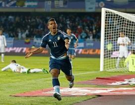 Aguero lập công, Argentina đánh bại Uruguay