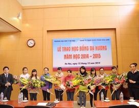 Dạ Hương chung sức cùng nữ sinh Đại học Y Hà Nội năm học 2014-2015