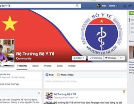 Lắng nghe người dân, Bộ trưởng Y tế công bố trang facebook