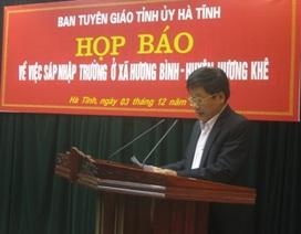 Hà Tĩnh: Tạo mọi điều kiện để học sinh Hương Bình được tiếp tục đến trường