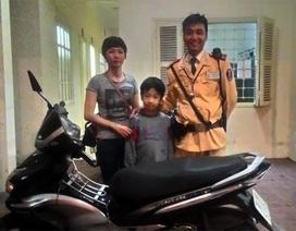 Hà Nội: Bất ngờ nhận lại xe Air Blade sau 4 năm bị mất