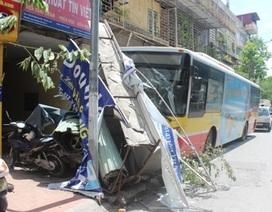 Vụ xe buýt cán nhiều xe máy: Do xe máy đi trước dừng đột ngột?