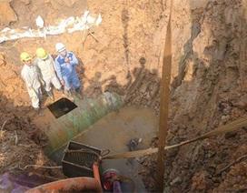 Đường ống dẫn nước sạch sông Đà vỡ lần thứ 11