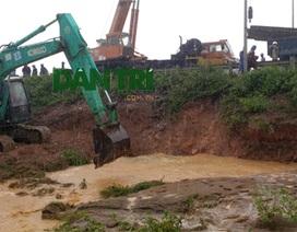 Khắc phục xong sự cố vỡ đường ống nước sạch sông Đà