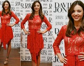 Miranda Kerr rực rỡ váy đỏ