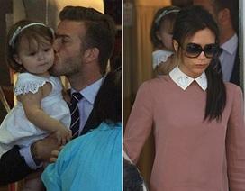 Vợ chồng Beckham đưa con gái đi ăn