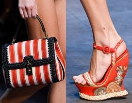 Ấn tượng với bộ sưu tập giày dép - túi xách rực rỡ của Dolce & Gabbana