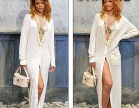 Rihanna mặc táo bạo dự show của Chanel