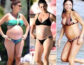 Những người đẹp tự tin khoe bụng bầu với bikini