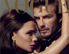 Vợ chồng Beckham tình tứ trên bìa tạp chí Vogue