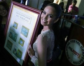 Hoa hậu thế giới được in hình lên tem