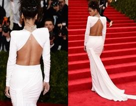 Rihanna hở lưng và bụng trên thảm đỏ