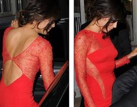 Váy đỏ gợi cảm của người đẹp Hollywood