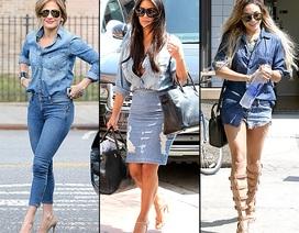 """Mặc đồ Jeans đẹp như """"sao"""" Hollywood"""