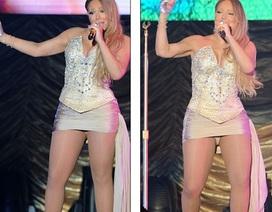Mariah Carey lộ thân hình béo tròn tại Trung Quốc
