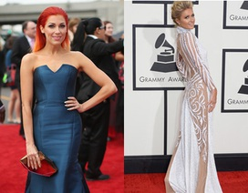 Dập dìu giai nhân trên thảm đỏ Grammy