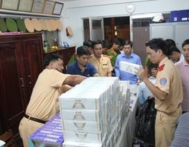 Bắt quả tang ghe chở trên 5.000 gói thuốc lá ngoại nhập