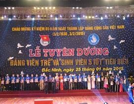 """Bắc Ninh: Tuyên dương 85 đảng viên trẻ và """"Sinh viên 5 tốt"""""""