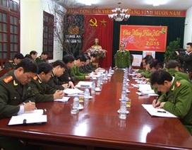 Tổng cục cảnh sát kiểm tra công tác cao điểm bảo vệ Tết nguyên đán tại Lạng Sơn