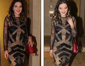 Người đẹp Anh diện váy gợi cảm dự tiệc
