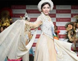 Áo dài của Đặng Thu Thảo lọt Top 10 Trang phục dân tộc đẹp nhất