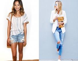 Mặc gì với quần Jeans rách?