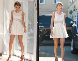 Taylor Swift lộ chân thẳng tắp