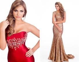 Người đẹp hoàn vũ kiêu sa với váy dạ hội