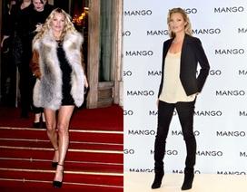 Trang phục đen sành điệu của Kate Moss