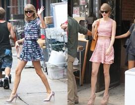 Taylor Swift mê áo hở bụng
