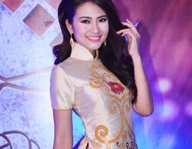 Ngọc Lan xinh đẹp với áo dài