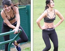 Người đẹp Anh tập thể dục chăm chỉ để giữ dáng