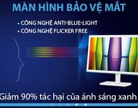 AOC bán ra thị trường màn hình máy tính bảo vệ mắt