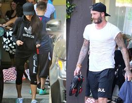 Vợ chồng Beckham cùng đi tập thể dục