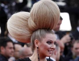 Ngỡ ngàng với kiểu tóc kỳ lạ của diễn viên Nga tại LHP Cannes